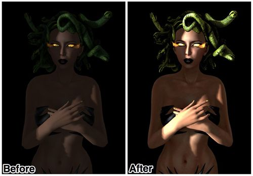 Medusa Before After 2