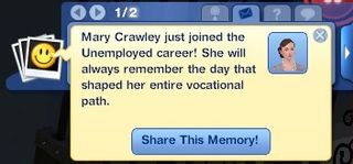 Mary Crawley unemployed