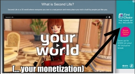 Second Life Ad Sense