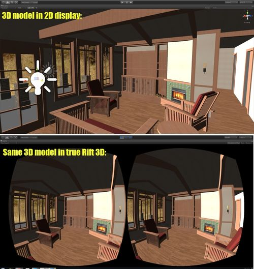 Before and After 3D Archiecture model using Oculus Rift