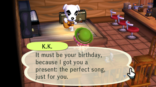Animal crossing K.K. Birthday