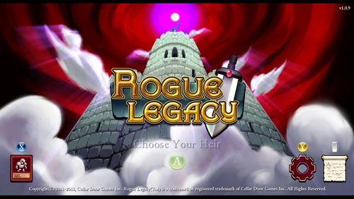 Rogue Legacy title screen