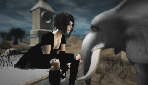 SL machinima Ghostville Cica Ghost