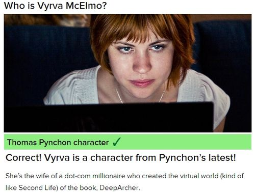 Thomas Pynchon Second Life