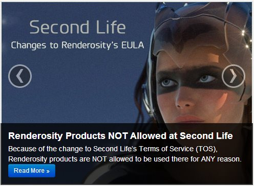 Renderosity Bans Second Life