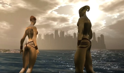 Residents sci fi SL machinima