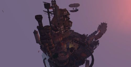Air Pirate town of Hakone Second Life