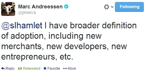 Marc Andreessen Bitcoin Second Life