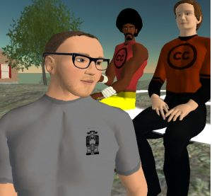 Cory Doctorow Lawrence Lessig avatar in Second Life