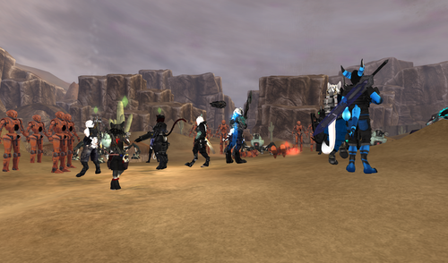 Remnants of Earth SL MMO bot combat