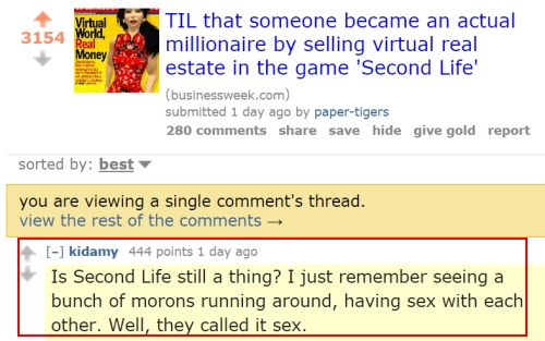 Second Life Sex Branding Problem