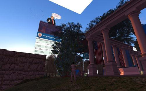 Trump Bernie HQ in Second Life