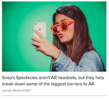 Spectacles Augmented Reality Snapchat Poor Sales