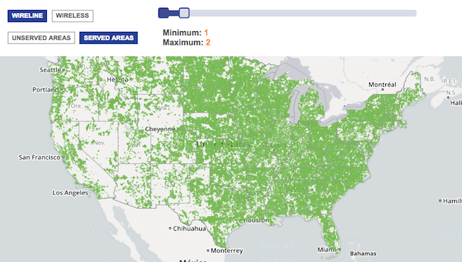 FCC map Net Neutrality Broadband low coverage
