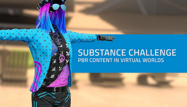 Substance Sinespace material creation texturing