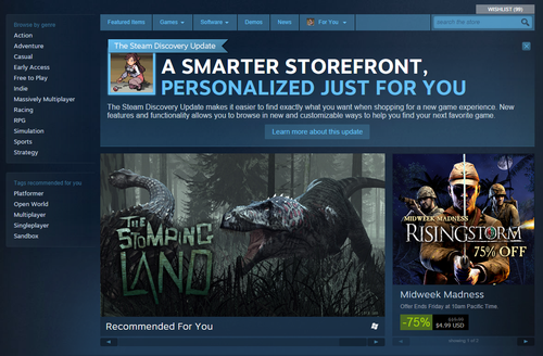 Steam New Layout