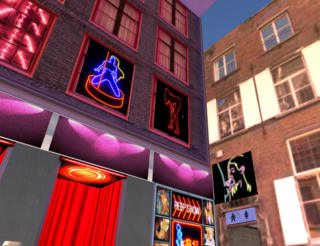Second Life Amsterdam red light district
