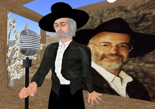 Terry Pratchett in SL 2008 by NobMouse