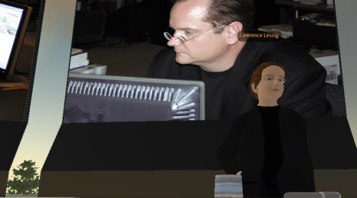 Lawrence Lessig Second Life President