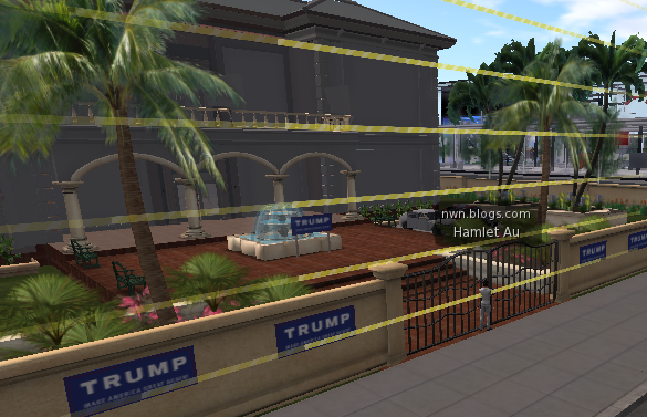 Virtual Trump Second Life