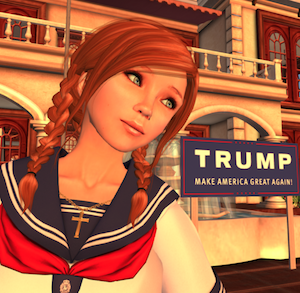 Trump Second Life anime supporter