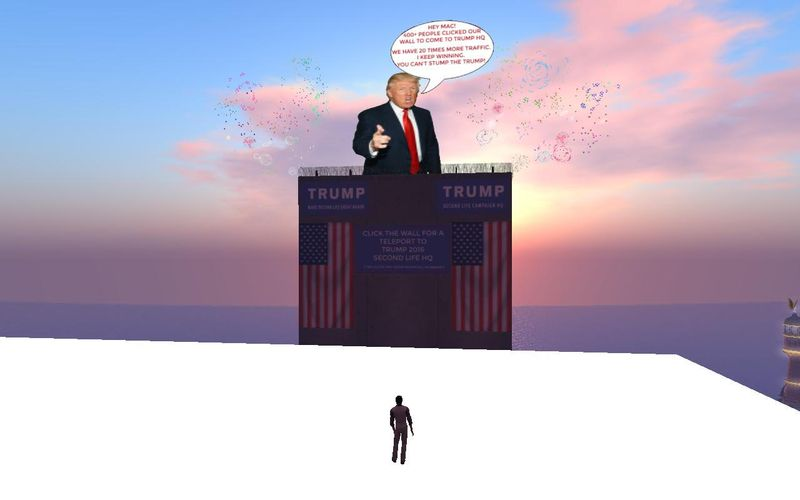 Trump Billboard in Second Life