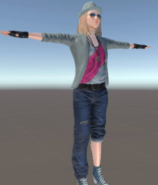 Space virtual world avatar tesselation shaders