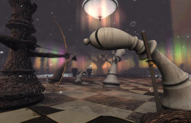 Giant Chess Land in Second Life
