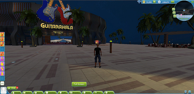 Space virtual world Guitarhala