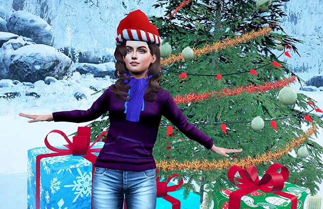 Sinespace MMO Unity 3D Winter festival
