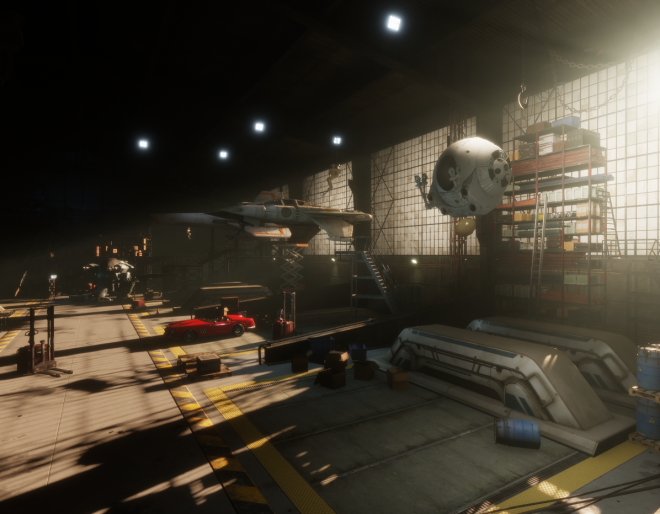 Aech Garage Ready Player One Movie Sansar Linden Lab
