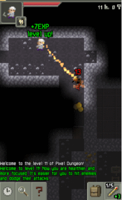 New World Notes: Pixel Dungeon is an Excellent Nethack