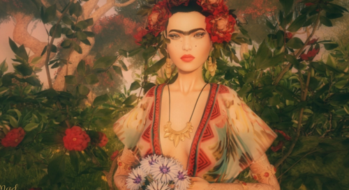 Frida Kahlo SL avatar fashion