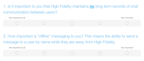 High Fidelity Chat VR Poll