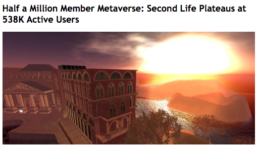 Second Life stagnation 2006 Wired
