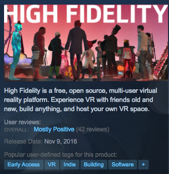 High Fidelity Social VR Metaverse