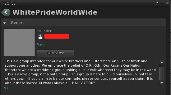 SL White Hate Group