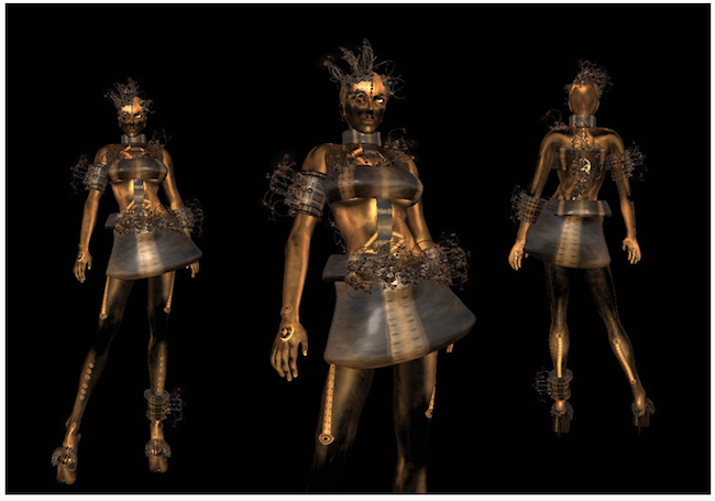 Copperbot female steampunk android avatar SL Marketplace
