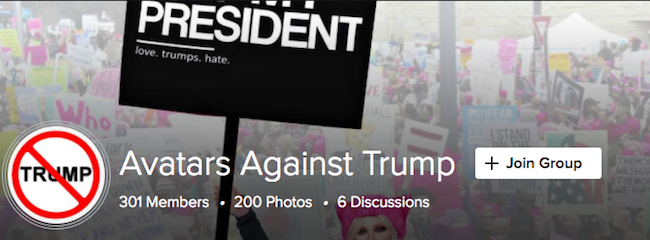 Avatars against Trump Flickr