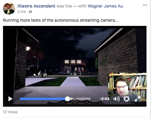 Facebook streaming video Second Life