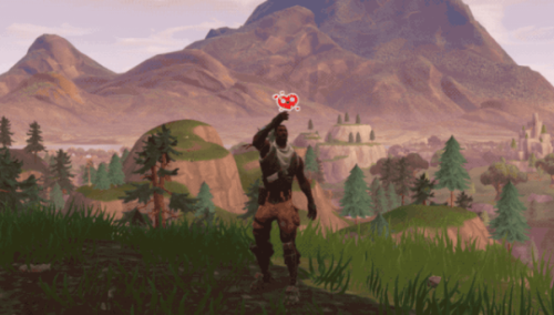 Fortnite MMO social heart emote