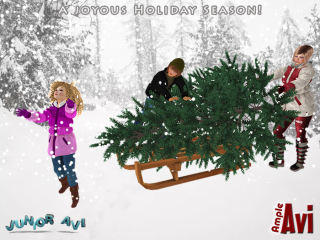 Ample Avi SL Bringing the Tree Home Holiday Hunt- POE11