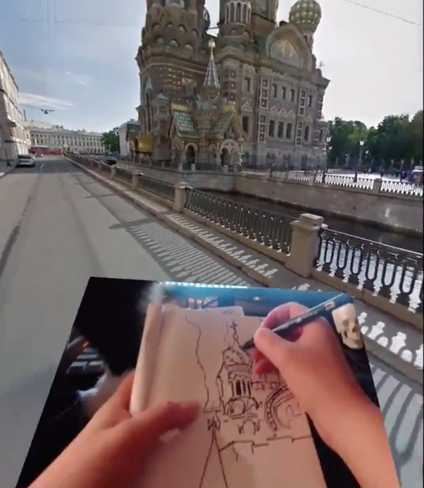Vive Google Maps VR RL drawing
