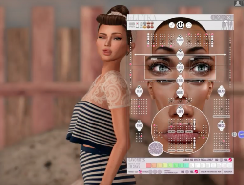 Second Life AXIS Hud avatar expression Bento