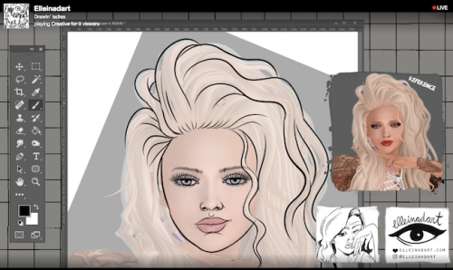 Nylon Pinkney Second LIfe art drawing Twitch