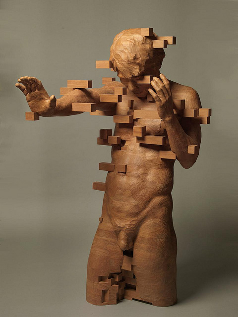 Hsu Tung Han pixellated sculptures New World Notes