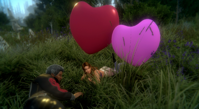 Sinespace virtual world events Valentines