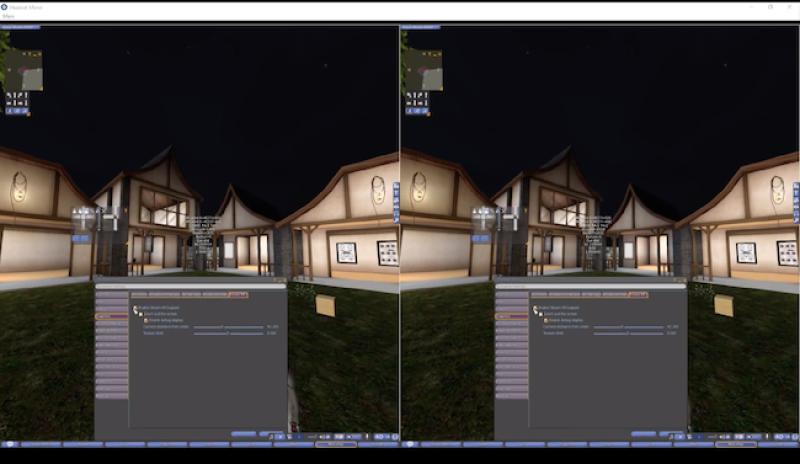 Firestorm SL open source VR viewer