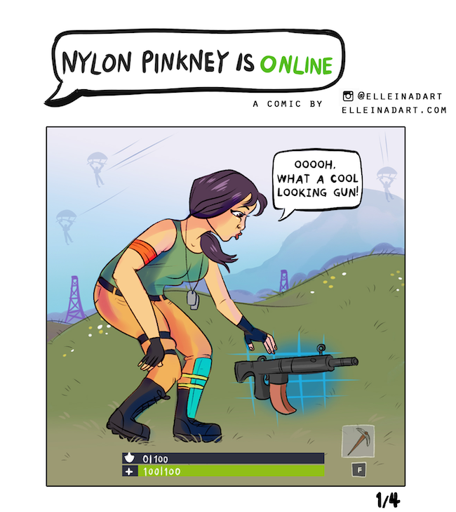 Fortnite comic Nylon Pinkney