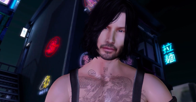 Keanu Cyberpunk 2077 Second Life avatar